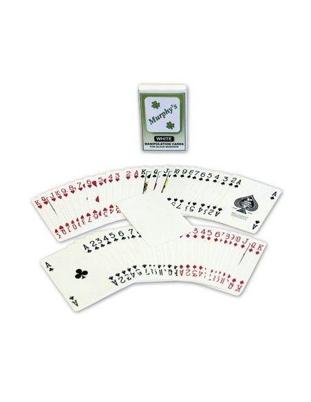 Baraja manipulación murphy poker dorso blanco Otros Naipes Manipulación
