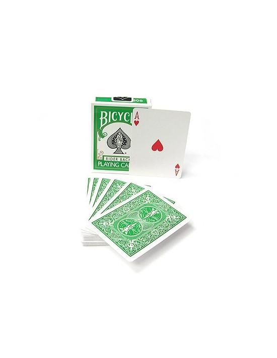 Baraja bicycle dorso verde US Playing Card Co. Póquer