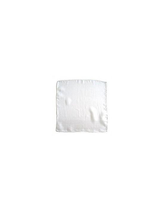 "Pañuelo de seda 15x15 blanco (6"") Varios Pañuelos 15x15"