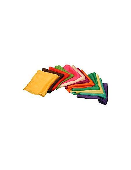 """Pañuelo de seda 15x15 rojo (6"""") Varios Pañuelos 15x15"""