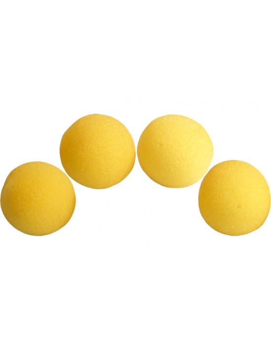 """Bolas de esponja 5 cm (2"""") amarillas Goshman Gomaespuma"""
