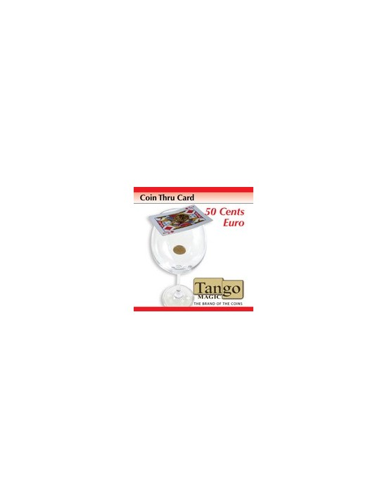 Moneda a través de la carta 50 cent € Tango Magic Monedas y dinero