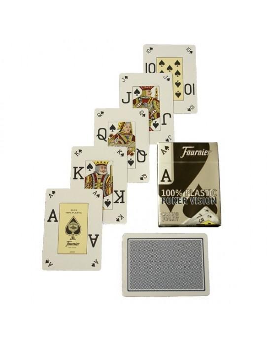 Baraja fournier poker visión plástico (azul) Fournier Baraja plástica