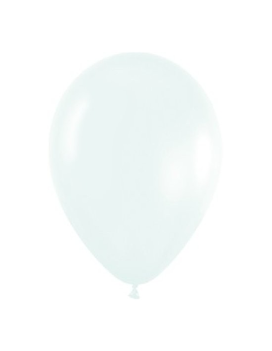 Bolsa de 100 globos sempertex r5 de 13 cm color fashion sólido blanco (005) Sempertex Globos Redondos