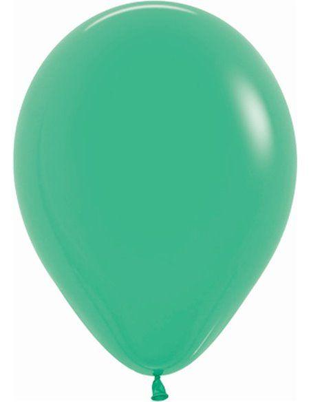 Bolsa de 100 globos sempertex r5 de 13 cm color fashion sólido verde (030) Sempertex Globos Redondos