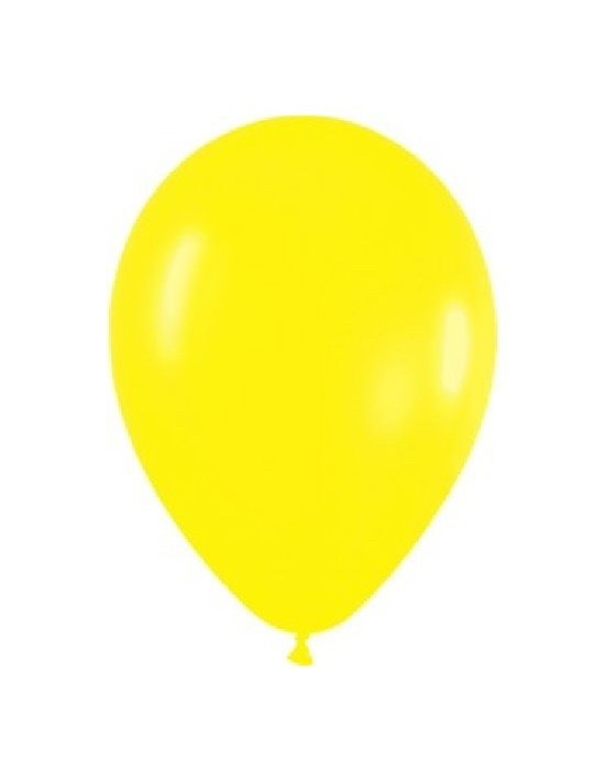 Bolsa de 50 globos sempertex r12 de 30 cm color fashion sólido amarillo (020) Sempertex Globos Redondos