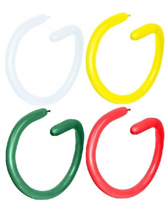 Bolsa de 100 globos sempertex 260 colores surtidos fashion sólido Sempertex Globoflexia