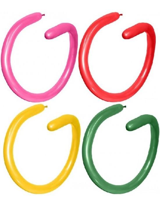 Bolsa de 100 globos sempertex 260 colores surtidos metal Sempertex Globoflexia