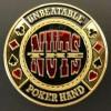 Card guard the nuts unbeatable poker hand Genérico Fichas y accesorios de naipes