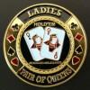 Card guard ladies pair of queens dorado Genérico Fichas y accesorios de naipes