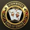 Card guard cowboys pair of kings Genérico Fichas y accesorios de naipes