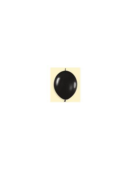 Bolsa de 50 globos sempertex r6 de 15 cm link-o-loon color fashion sólido negro (080) Sempertex Globos Link o Loon