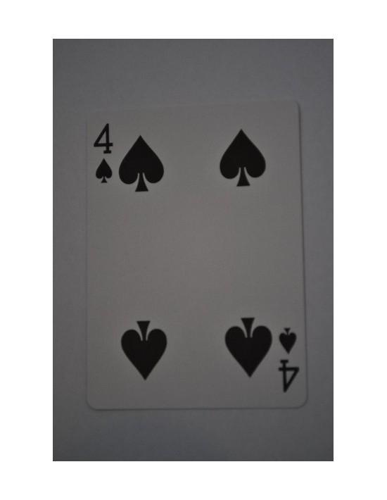 Baraja bicycle 52 cartas iguales dorso azul cuatro de picas US Playing Card Co. Bicycle Poker 52 iguales Azul