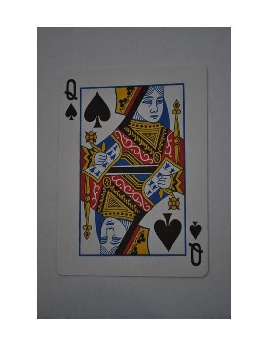 Baraja bicycle 52 cartas iguales dorso azul dama de picas US Playing Card Co. Bicycle Poker 52 iguales Azul