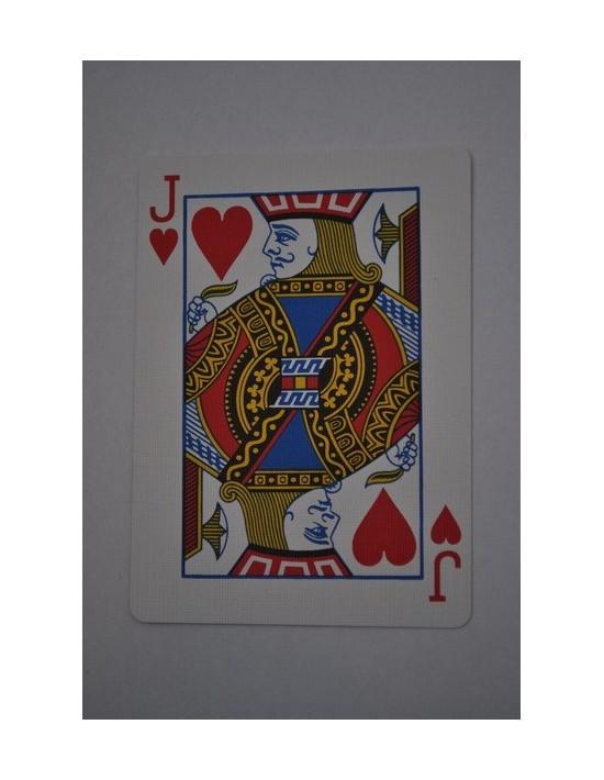 Baraja bicycle 52 cartas iguales dorso azul jota de corazones US Playing Card Co. Bicycle Poker 52 iguales Azul