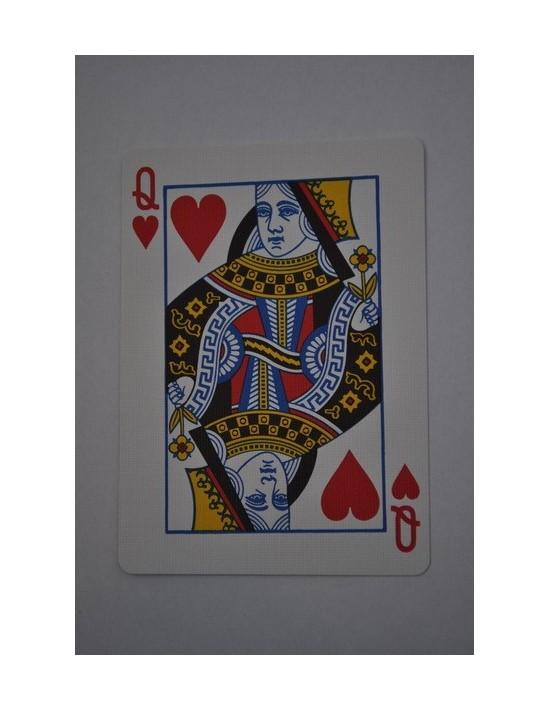 Baraja bicycle 52 cartas iguales dorso azul dama de corazones US Playing Card Co. Bicycle Poker 52 iguales Azul