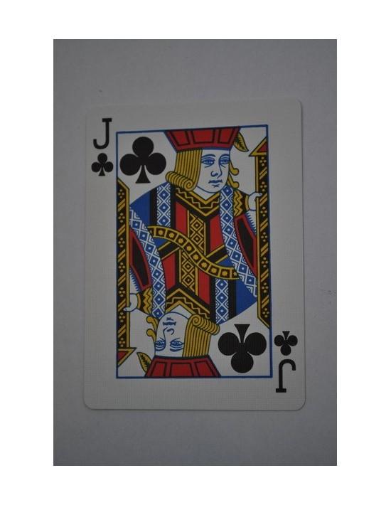 Baraja bicycle 52 cartas iguales dorso azul jota de tréboles US Playing Card Co. Bicycle Poker 52 iguales Azul