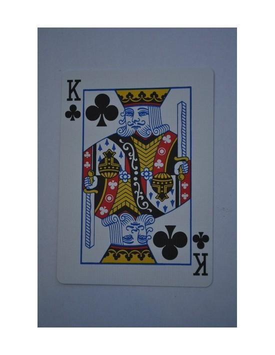 Baraja bicycle 52 cartas iguales dorso azul rey de tréboles US Playing Card Co. Bicycle Poker 52 iguales Azul