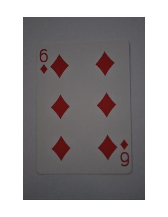 Baraja bicycle 52 cartas iguales dorso azul seis de diamantes US Playing Card Co. Bicycle Poker 52 iguales Azul