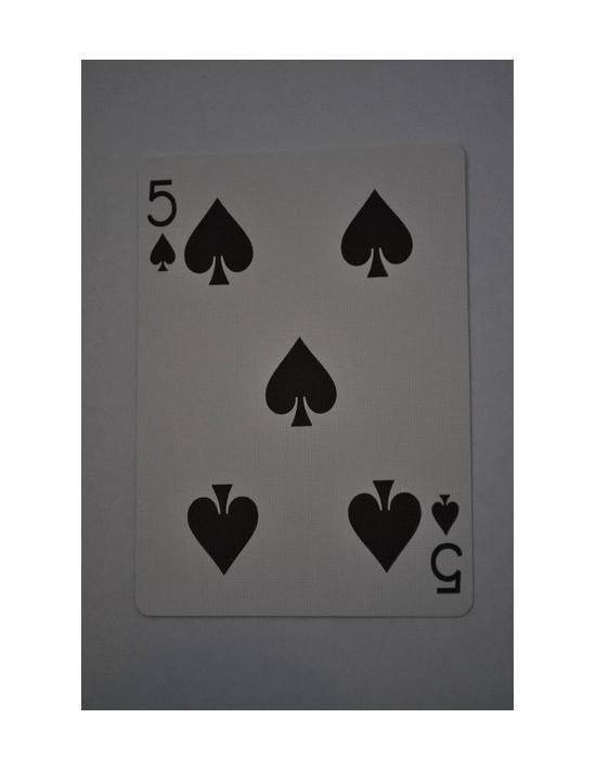 Baraja bicycle 52 cartas iguales dorso rojo cinco de picas US Playing Card Co. Bicycle Poker 52 iguales Rojo