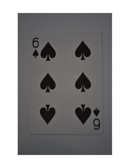 Baraja bicycle 52 cartas iguales dorso rojo seis de picas US Playing Card Co. Bicycle Poker 52 iguales Rojo