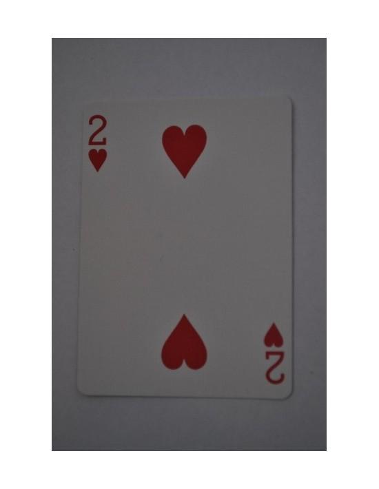Baraja bicycle 52 cartas iguales dorso rojo dos de corazones US Playing Card Co. Bicycle Poker 52 iguales Rojo