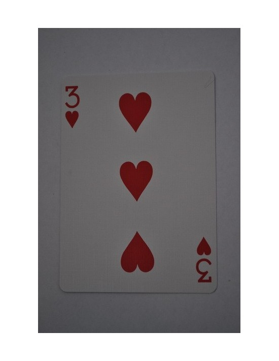 Baraja bicycle 52 cartas iguales dorso rojo tres de corazones US Playing Card Co. Bicycle Poker 52 iguales Rojo
