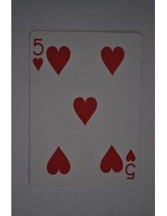 Baraja bicycle 52 cartas iguales dorso rojo siete de picas US Playing Card Co