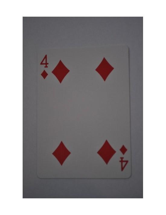 Baraja bicycle 52 cartas iguales dorso rojo cuatro de diamantes US Playing Card Co. Bicycle Poker 52 iguales Rojo