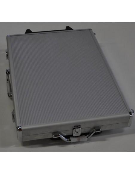 Maletín aluminio 1000 fichas poker trolley Genérico Fichas y accesorios de naipes