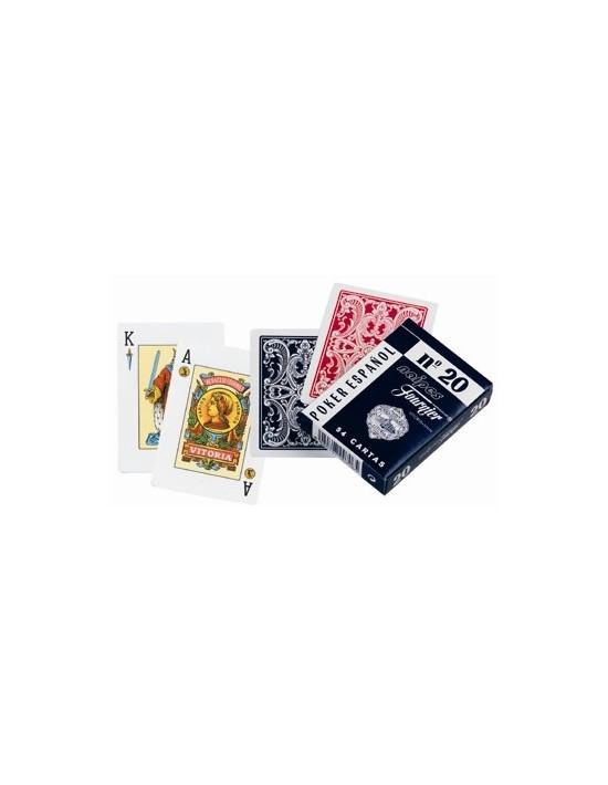 Baraja fournier nº 20 azul 52 cartas iguales Fournier Otras Cartas Repetidas