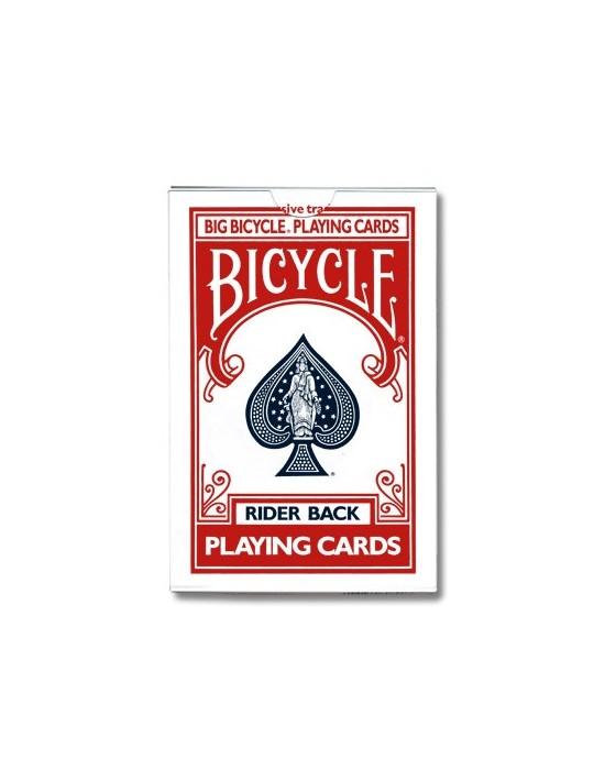 Baraja bicycle gigante roja 52 cartas iguales US Playing Card Co. Otras Cartas Repetidas