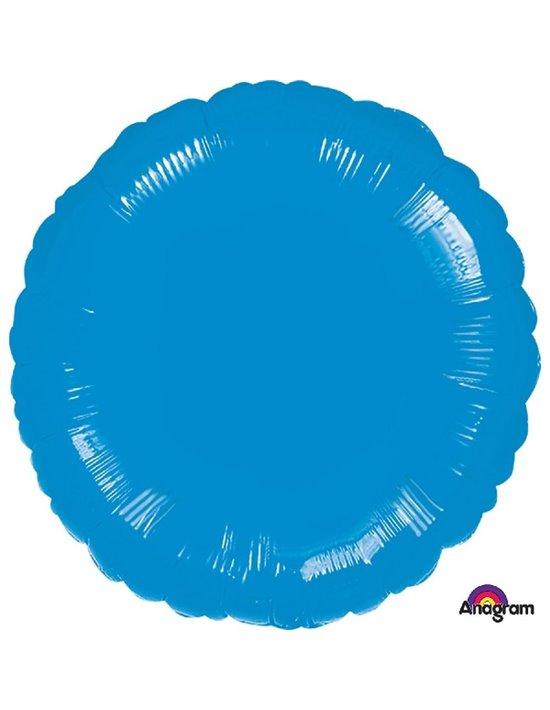 Globo de foil metálico con forma de círculo color azul de 45 cm Anagram Globos Foil sólidos