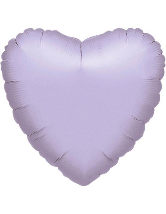 Globo de foil metálico con forma de corazón color rojo de 45 cm Anagram Globos Foil sólidos