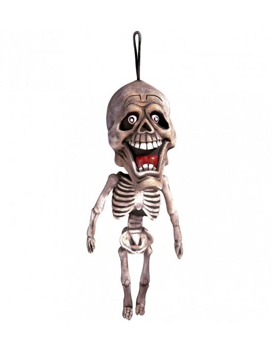 Colgante esqueleto 60 cm Widmann Látex y carne artificial