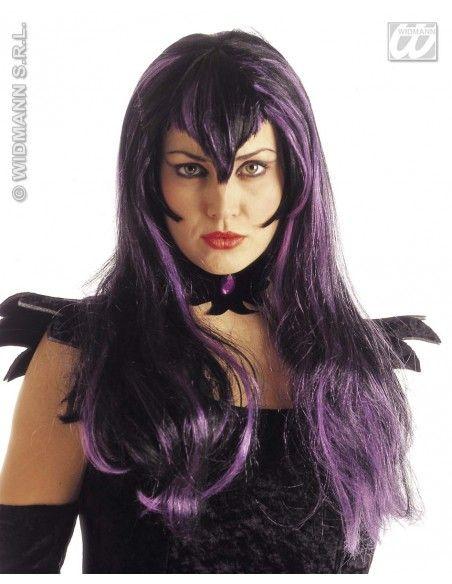 Peluca samantha mechones violeta color negro Widmann Pelucas y Calvas