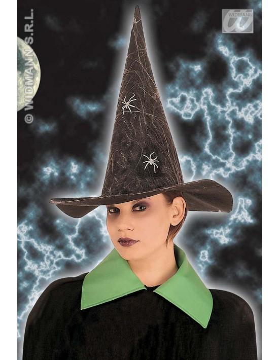 Sombrero bruja con arañas fluorescentes Widmann Sombreros