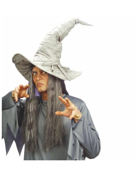 Sombrero bruja deformable gris Widmann Sombreros