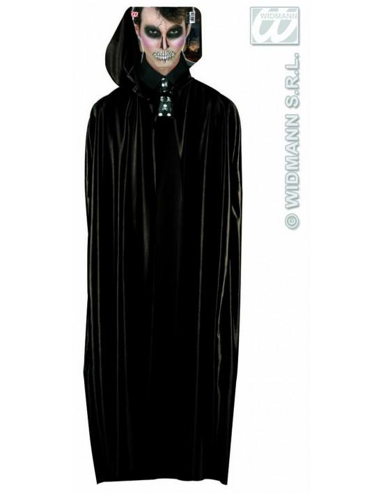 Capa con capucha 142 cm color negro Widmann Capas