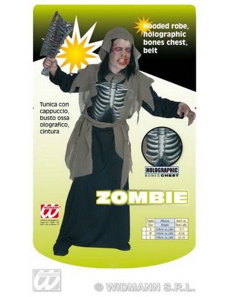Disfraz zombi costillas talla 8-10 años Widmann Niño