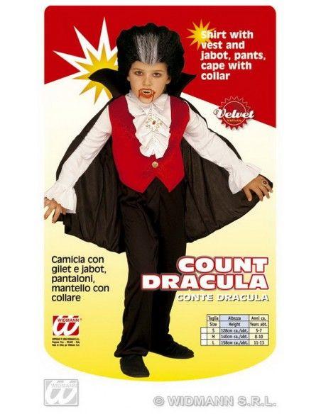 Disfraz conde drácula niño. talla m (8-10 años) Widmann Niño