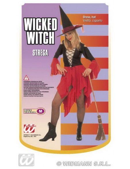 Disfraz bruja corto talla m Widmann Para Mujer