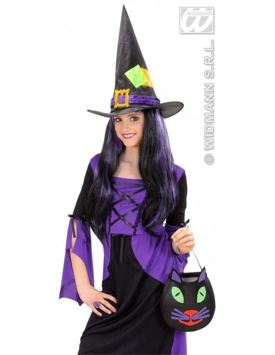 Sombrero bruja con parches de colores niña Widmann Sombreros