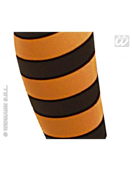 Medias panty de rayas naranja y negro talla 7-10 años Widmann Medias y Pantys