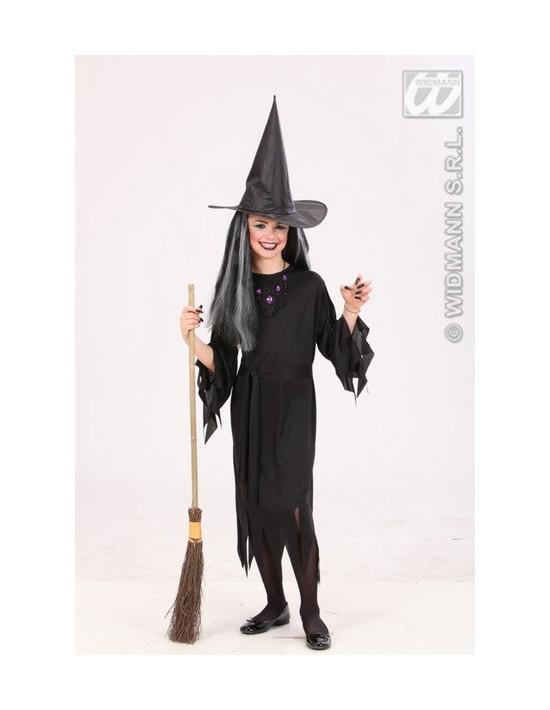 Disfraz bruja negra talla 8-10 años Widmann Niña