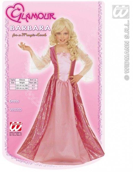 Disfraz de barbie glamurosa (talla 4-5 años) Widmann Niña