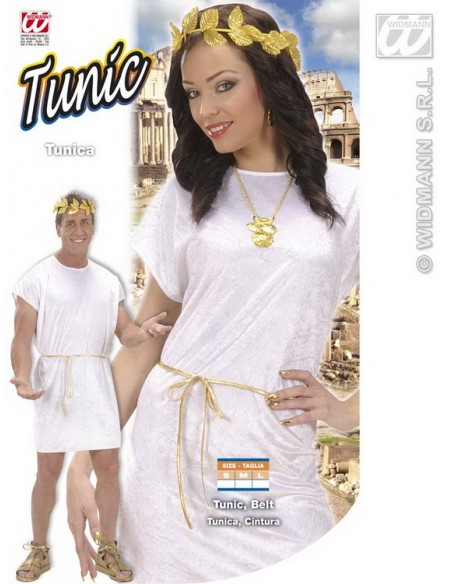 Disfraz de túnica blanca arde lucus talla m Widmann Para Hombre