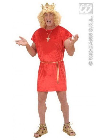 Disfraz de túnica roja arde lucus talla l Widmann Para Hombre