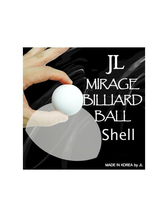Two inch mirage billiard balls by jl (white, shell only) Asdetrebol Magia Varios