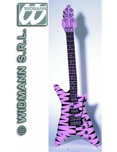 Guitarra inflable (modelo cebra rosa) Widmann Inflables